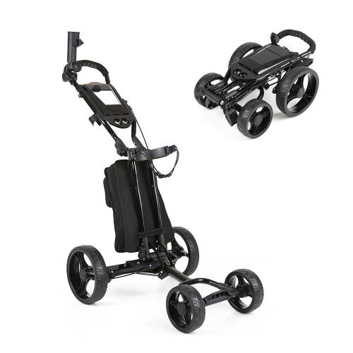 TOMSHOO Carrito de golf de 4 ruedas