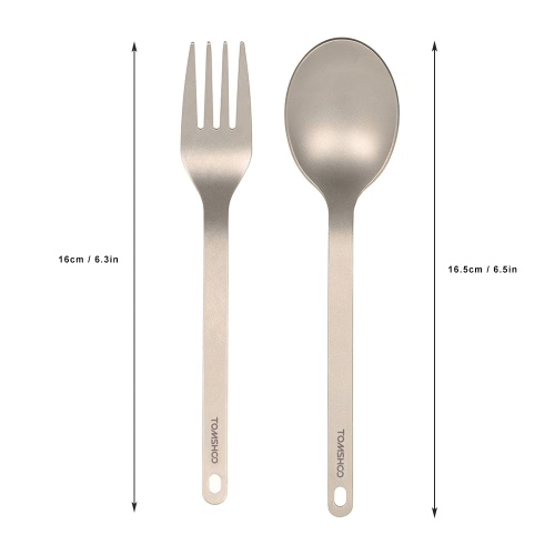 TOMSHOO Titanium Tableware Dinner Frok Cutlery Flatware for Home Outdoor CampingSports &amp; Outdoor<br>TOMSHOO Titanium Tableware Dinner Frok Cutlery Flatware for Home Outdoor Camping<br>