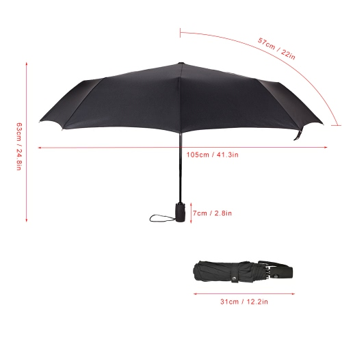 Lixada Travel Umbrella 9 Fiberglass Ribs Windproof Umbrella Compact Auto Open&amp;Close 190T Canopy Folding UmbrellaSports &amp; Outdoor<br>Lixada Travel Umbrella 9 Fiberglass Ribs Windproof Umbrella Compact Auto Open&amp;Close 190T Canopy Folding Umbrella<br>