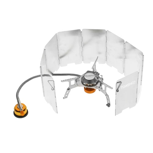 TOMSHOO Outdoor Camping Stove Kit Ultralight Compact Foldable Backpacking Gas Stove with 9-Plate Camp Stove Windscreen WindshieldSports &amp; Outdoor<br>TOMSHOO Outdoor Camping Stove Kit Ultralight Compact Foldable Backpacking Gas Stove with 9-Plate Camp Stove Windscreen Windshield<br>
