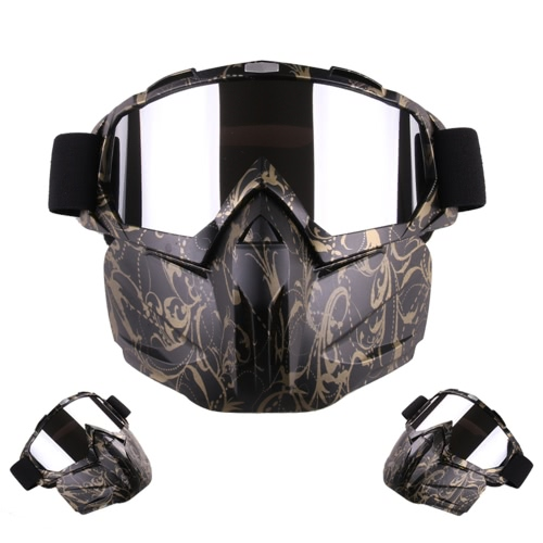 Motorcycle Helmet Riding Detachable Modular Face Mask Windproof Breathable Shield Goggles OutdoorsSports &amp; Outdoor<br>Motorcycle Helmet Riding Detachable Modular Face Mask Windproof Breathable Shield Goggles Outdoors<br>