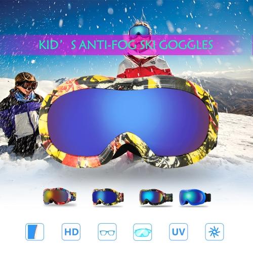 Lixada Anti-fog Ski Goggles UV Protection Dual Lens Snowboard Goggles Windproof Snow Skating Skiing Sports Goggle for KidsSports &amp; Outdoor<br>Lixada Anti-fog Ski Goggles UV Protection Dual Lens Snowboard Goggles Windproof Snow Skating Skiing Sports Goggle for Kids<br>