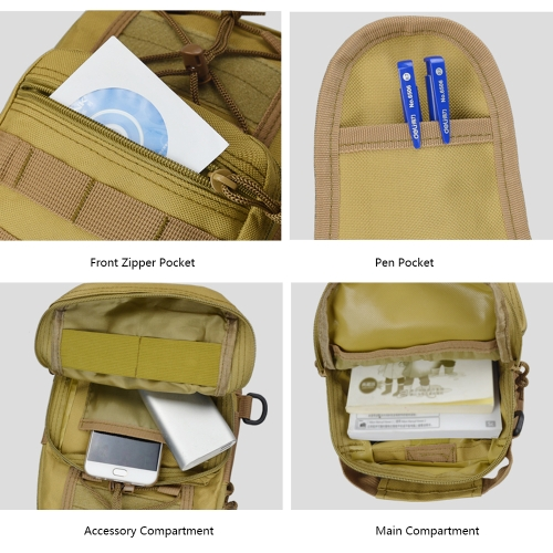Outdoor Sports Cycling Bag Waterproof Chest Waist Strap Bag Camouflage Tactics Shoulder Pouch BackpackSports &amp; Outdoor<br>Outdoor Sports Cycling Bag Waterproof Chest Waist Strap Bag Camouflage Tactics Shoulder Pouch Backpack<br>