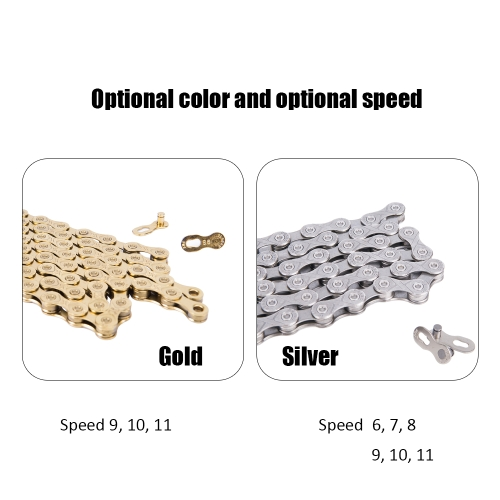 Silver Mountain Bike Road Bicycle Accessories Practical Bicycle Chain for 6 / 7 / 8 Speed