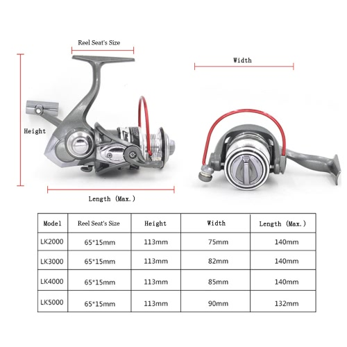Metal Spool 12+1 Ball Bearings Smooth Powerful Spinning Fishing Reel Left / Right Interchangeable HandleSports &amp; Outdoor<br>Metal Spool 12+1 Ball Bearings Smooth Powerful Spinning Fishing Reel Left / Right Interchangeable Handle<br>