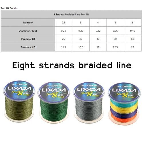 Lixada 500M Super Strong Multifilament Polyethylene Braided Fishing Line 25LB to 60LBSports &amp; Outdoor<br>Lixada 500M Super Strong Multifilament Polyethylene Braided Fishing Line 25LB to 60LB<br>
