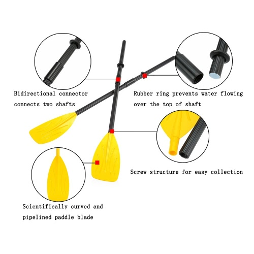 A Pair of Paddles with Split 4 Pieces Shaft 2 Connectors 2 Rubber Rings for your Rowing Boat Sea Kayak PaddlesSports &amp; Outdoor<br>A Pair of Paddles with Split 4 Pieces Shaft 2 Connectors 2 Rubber Rings for your Rowing Boat Sea Kayak Paddles<br>