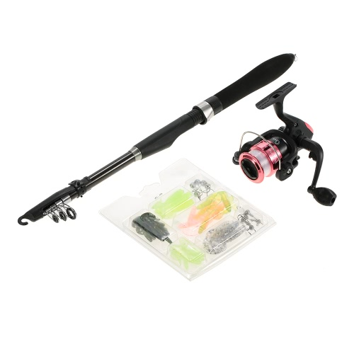 Lixada Professional Fishing Tackle Kit Portable Lure Rod Reel Set with 1.6m Fishing Rod Fishing Reel Fishing Bait Suit Delicate FiSports &amp; Outdoor<br>Lixada Professional Fishing Tackle Kit Portable Lure Rod Reel Set with 1.6m Fishing Rod Fishing Reel Fishing Bait Suit Delicate Fi<br>
