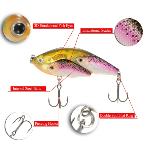Group Fish Lures Floating SwimBait Hard Plastic 3d Fish Eye VIB RattlinSports &amp; Outdoor<br>Group Fish Lures Floating SwimBait Hard Plastic 3d Fish Eye VIB Rattlin<br>