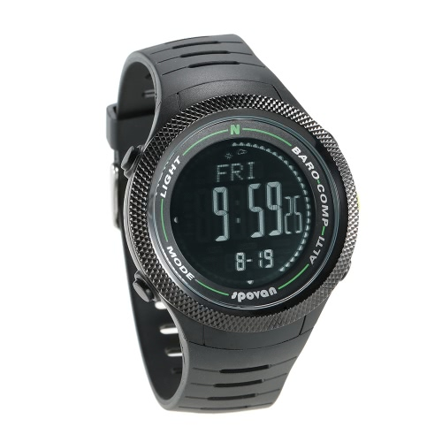 SPOVAN 5ATM Multifunctional Sports Watch Altimeter Barometer Thermometer Digital Compass Weather Forecast PedometerSports &amp; Outdoor<br>SPOVAN 5ATM Multifunctional Sports Watch Altimeter Barometer Thermometer Digital Compass Weather Forecast Pedometer<br>
