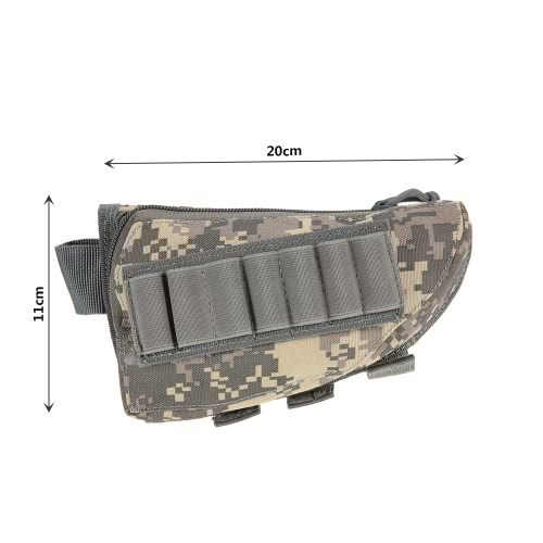 Buttstock Pouch Tactical Pouch Hunting Accessory Pouch Holder Carrier Military Gear Utility Tool Kit Cheek Pad DesignSports &amp; Outdoor<br>Buttstock Pouch Tactical Pouch Hunting Accessory Pouch Holder Carrier Military Gear Utility Tool Kit Cheek Pad Design<br>