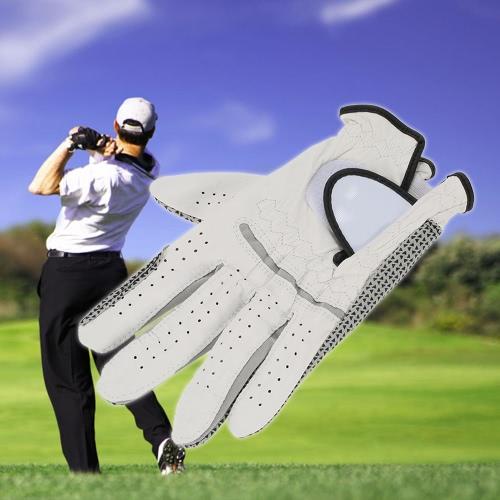 Leather Golf Glove Mens Left Hand Soft Breathable Lambskin Golf Gloves Golf AccessoriesSports &amp; Outdoor<br>Leather Golf Glove Mens Left Hand Soft Breathable Lambskin Golf Gloves Golf Accessories<br>