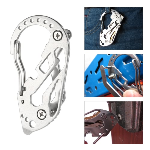 Mountaineering Buckle Portable Multifunctional Tool Nail Puller Wrench More Key Chain CarabinerSports &amp; Outdoor<br>Mountaineering Buckle Portable Multifunctional Tool Nail Puller Wrench More Key Chain Carabiner<br>