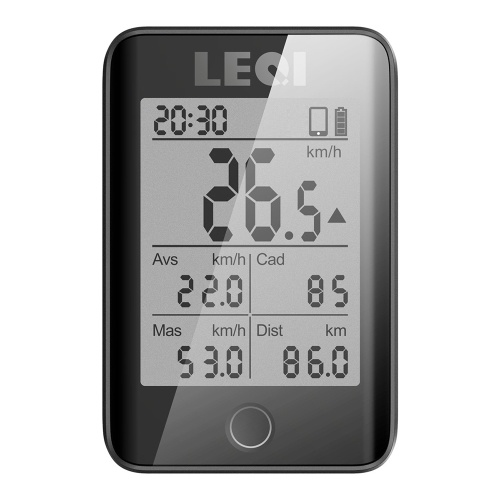 Computer da bicicletta wireless grande schermo LEQI 2.2 ''