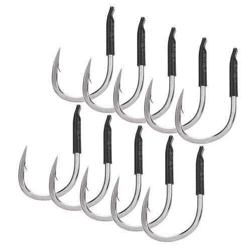 10Pcs Thickened Flat Body Sharp Barbed Fishing Hook