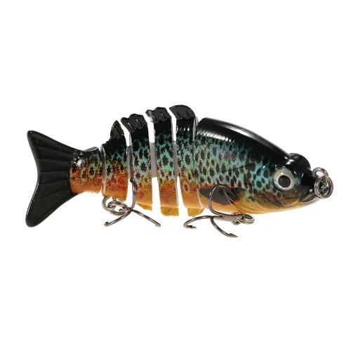 Lixada 85mm 11g 3.3 6-segement Multi Jointed Fishing Life-like Hard Lure Minnow Swimbait Bait 2 Treble VMC HooksSports &amp; Outdoor<br>Lixada 85mm 11g 3.3 6-segement Multi Jointed Fishing Life-like Hard Lure Minnow Swimbait Bait 2 Treble VMC Hooks<br>