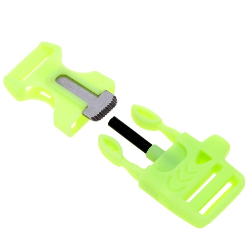 Outdoor Luminous Buckle with Flint Stone Whistle for Paracord BraceletSports &amp; Outdoor<br>Outdoor Luminous Buckle with Flint Stone Whistle for Paracord Bracelet<br>
