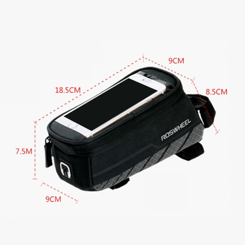 ROSWHEEL Bicycle Front Frame Bag Pouch Touch Screen Case for 5.7in CellphoneSports &amp; Outdoor<br>ROSWHEEL Bicycle Front Frame Bag Pouch Touch Screen Case for 5.7in Cellphone<br>