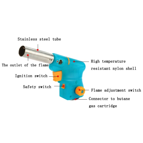 Light &amp; Compact Outdoor Gas Torch Butane Burner Electronic Ignition Camping Welding Flamethrower for BBQ Food TreatmentSports &amp; Outdoor<br>Light &amp; Compact Outdoor Gas Torch Butane Burner Electronic Ignition Camping Welding Flamethrower for BBQ Food Treatment<br>