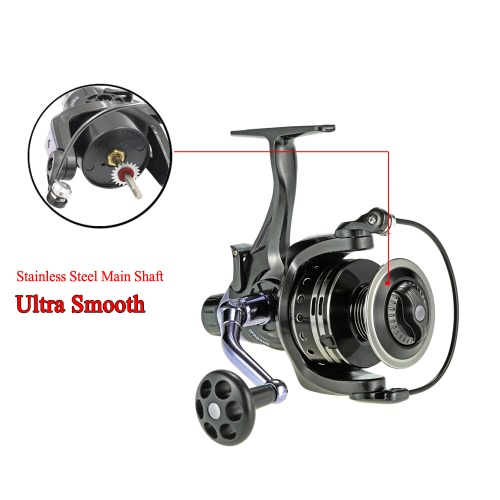 11+1BB Ball Bearings 4:7:1 Ultra Smooth Spinning Fishing Reel Right/Left Interchangeable Fishing Reel for Freshwater SaltwaterSports &amp; Outdoor<br>11+1BB Ball Bearings 4:7:1 Ultra Smooth Spinning Fishing Reel Right/Left Interchangeable Fishing Reel for Freshwater Saltwater<br>