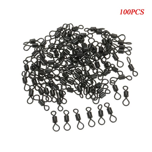 100Pcs Fishing Swivels Rolling Swivels Sea Fishing Accessories Connector Rolling Swivels Ball Bearing Solid RingsSports &amp; Outdoor<br>100Pcs Fishing Swivels Rolling Swivels Sea Fishing Accessories Connector Rolling Swivels Ball Bearing Solid Rings<br>