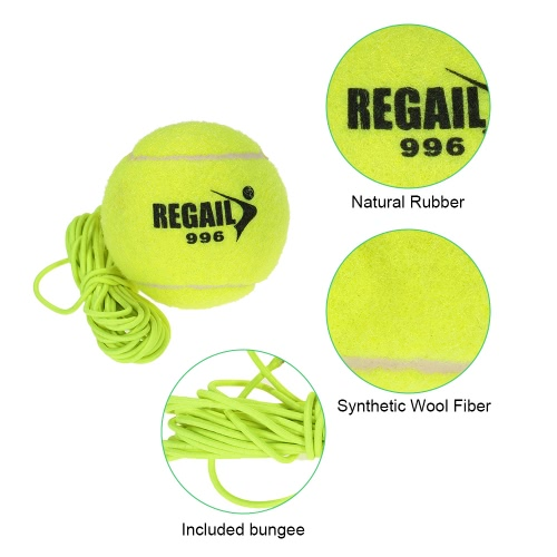 Natural Rubber Synthetic Wool Fiber Tennis Ball Dog Training Tennis Ball With StringSports &amp; Outdoor<br>Natural Rubber Synthetic Wool Fiber Tennis Ball Dog Training Tennis Ball With String<br>