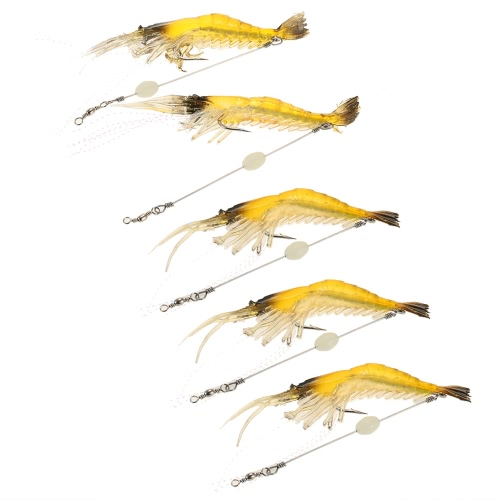 Luminous Soft Shrimp Prawn Worm Bait Lure Saltwater Fishing Lure Hook BaitSports &amp; Outdoor<br>Luminous Soft Shrimp Prawn Worm Bait Lure Saltwater Fishing Lure Hook Bait<br>