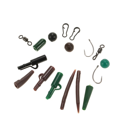1 Set of  Carp Fishing Swivel Anti-tangle Sleeves Hooks Beads Clips Plastic Tubes Lead Clip Kit Set Fishing Tackle in BoxSports &amp; Outdoor<br>1 Set of  Carp Fishing Swivel Anti-tangle Sleeves Hooks Beads Clips Plastic Tubes Lead Clip Kit Set Fishing Tackle in Box<br>