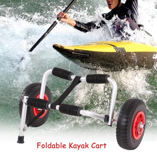 Portable Lightweight Foldable Boat Kayak Carrier Canoe Dolly Tote Trolley Transport Trailer Cart Removable WheelsSports &amp; Outdoor<br>Portable Lightweight Foldable Boat Kayak Carrier Canoe Dolly Tote Trolley Transport Trailer Cart Removable Wheels<br>