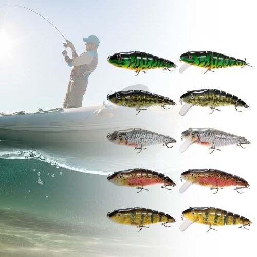 Lixada 11.8cm/35g Lifelike 7 Jointed Sections Fishing Lure Trout Swimbait Hard Bait Fish Hook Fishing TackleSports &amp; Outdoor<br>Lixada 11.8cm/35g Lifelike 7 Jointed Sections Fishing Lure Trout Swimbait Hard Bait Fish Hook Fishing Tackle<br>