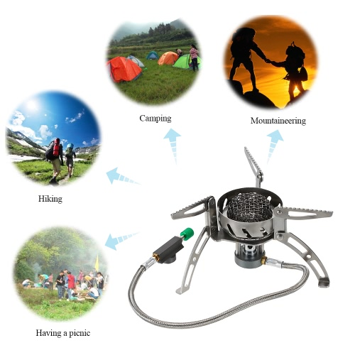 Outdoor Camping Cooking Big Power Windproof Gas Stove Butane Burner Portable Foldable Split Furnace 1940WSports &amp; Outdoor<br>Outdoor Camping Cooking Big Power Windproof Gas Stove Butane Burner Portable Foldable Split Furnace 1940W<br>