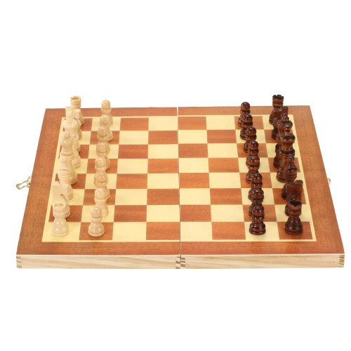 Wooden Chess Set International Chess Entertainment Game Chess Set with Folding BoardSports &amp; Outdoor<br>Wooden Chess Set International Chess Entertainment Game Chess Set with Folding Board<br>