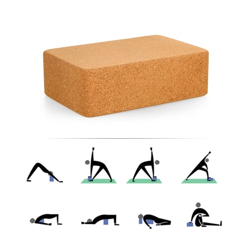 Cork Wood Yoga Block High Density Provides Stability and Balance Support Bricks for Exercise Pilates Workout FitnessSports &amp; Outdoor<br>Cork Wood Yoga Block High Density Provides Stability and Balance Support Bricks for Exercise Pilates Workout Fitness<br>
