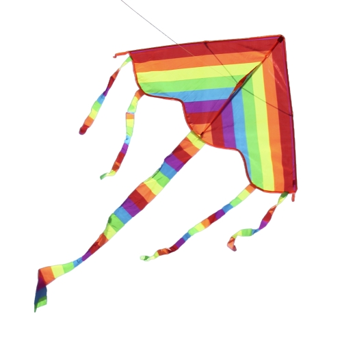 Colorful Delta Kite Outdoor Beach Flying Kite for Kids and Adults with 3 Tails 50 Meter StringSports &amp; Outdoor<br>Colorful Delta Kite Outdoor Beach Flying Kite for Kids and Adults with 3 Tails 50 Meter String<br>