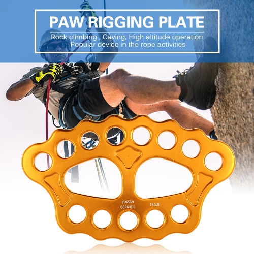 Lixida Outdoor 8 Holes Paw Rigging Plate 45KN Rescue Rock Climbing Mountaineering Equipment Multi Anchor Point Connector GearSports &amp; Outdoor<br>Lixida Outdoor 8 Holes Paw Rigging Plate 45KN Rescue Rock Climbing Mountaineering Equipment Multi Anchor Point Connector Gear<br>