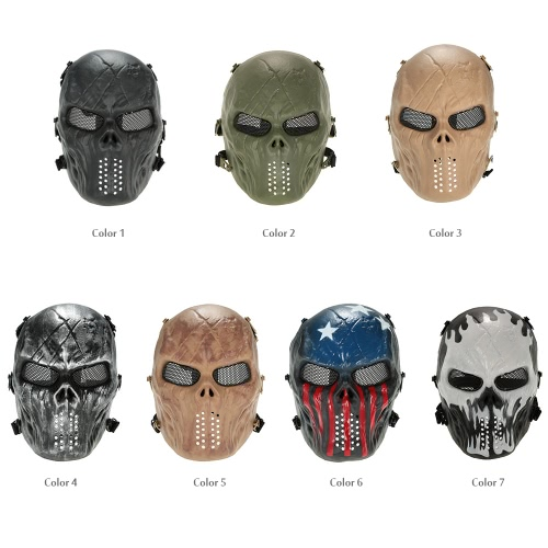 Outdoor Wargame Tactical Mask Full Face Airsoft Paintball CS Army Mask Halloween Party Cosplay Protective Face MaskSports &amp; Outdoor<br>Outdoor Wargame Tactical Mask Full Face Airsoft Paintball CS Army Mask Halloween Party Cosplay Protective Face Mask<br>