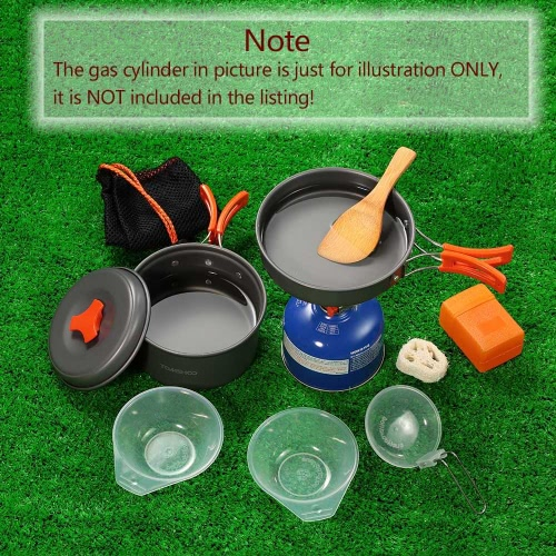 TOMSHOO Outdoor Camping Hiking Cookware with Mini Camping Piezoelectric Ignition Stove Backpacking Cooking Picnic Pot Stove SetSports &amp; Outdoor<br>TOMSHOO Outdoor Camping Hiking Cookware with Mini Camping Piezoelectric Ignition Stove Backpacking Cooking Picnic Pot Stove Set<br>