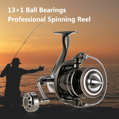 13+1BB Ball Bearings Aluminum Alloy Professional Fishing Reel Spinning Reel Fishing Tackle Left/Right Convertible Collapsible HandSports &amp; Outdoor<br>13+1BB Ball Bearings Aluminum Alloy Professional Fishing Reel Spinning Reel Fishing Tackle Left/Right Convertible Collapsible Hand<br>