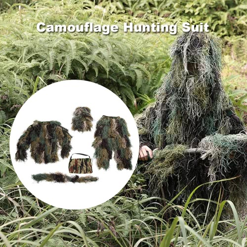 Lixada Camouflage Hunting Suit Set Jacket Pants Tactical Wrap Hood Woodland and Forest Design Bionic Warrior Ghillie Suit for HuntSports &amp; Outdoor<br>Lixada Camouflage Hunting Suit Set Jacket Pants Tactical Wrap Hood Woodland and Forest Design Bionic Warrior Ghillie Suit for Hunt<br>