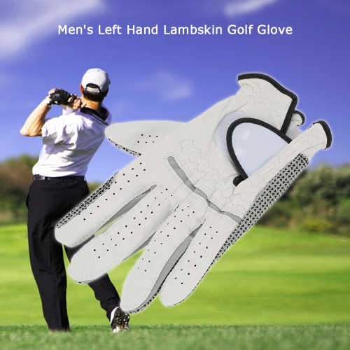 Leather Golf Glove Mens Left Hand Soft Breathable Lambskin Golf Gloves Golf AccessoriesSports &amp; Outdoor<br>Leather Golf Glove Mens Left Hand Soft Breathable Lambskin Golf Gloves Golf Accessories<br>