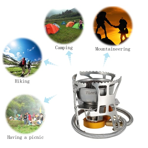 TOMSHOO Backpacking Canister Stove Burners Camping Outdoor Cooking Foldable Hiking Supply Butane Canister CompatibleSports &amp; Outdoor<br>TOMSHOO Backpacking Canister Stove Burners Camping Outdoor Cooking Foldable Hiking Supply Butane Canister Compatible<br>