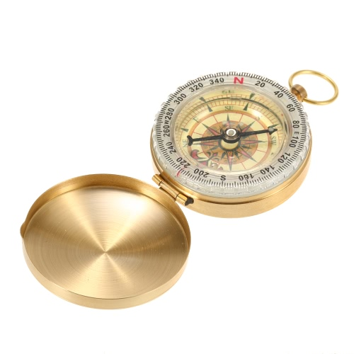 Outdoor Sports Camping Hiking Portable Brass Pocket Golden Multi-Functional Fluorescence Compass NavigationSports &amp; Outdoor<br>Outdoor Sports Camping Hiking Portable Brass Pocket Golden Multi-Functional Fluorescence Compass Navigation<br>