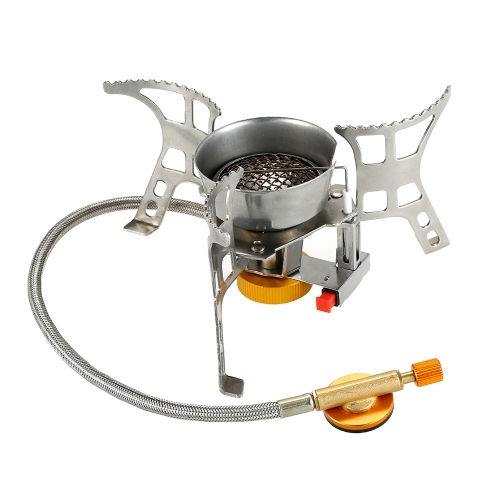 Lixada Portable Windproof Camping Gas Stove with Piezo Ignition Lightweight Folding Outdoor Backpacking Cooking Camp Stove with CaSports &amp; Outdoor<br>Lixada Portable Windproof Camping Gas Stove with Piezo Ignition Lightweight Folding Outdoor Backpacking Cooking Camp Stove with Ca<br>