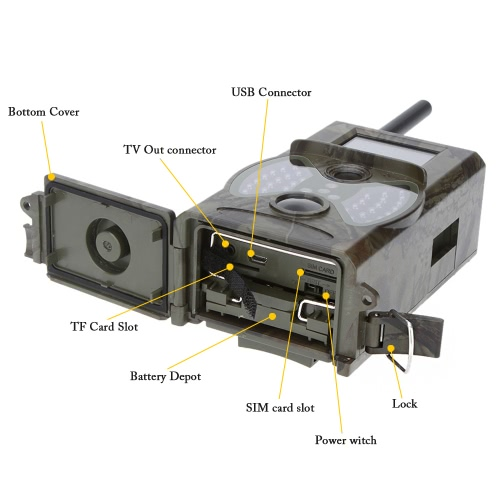 Lixada 2G/3G GSM CDMA MMS/SMS/SMTP 16MP 0.5S Trigger Time Scouting Hunting Camera 940NM IR LED HD Digital Infrared Trail Camera HCSports &amp; Outdoor<br>Lixada 2G/3G GSM CDMA MMS/SMS/SMTP 16MP 0.5S Trigger Time Scouting Hunting Camera 940NM IR LED HD Digital Infrared Trail Camera HC<br>