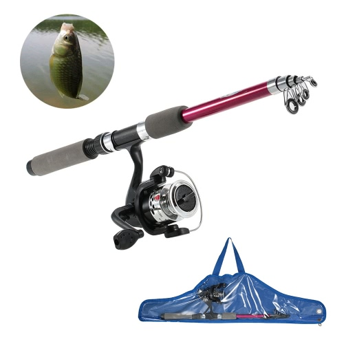 Childrens Kids Fishing Tackle Kit Portable Rod Reel Set with 1.8m Retractable Fishing Rod Fishing Reel Fishing BagSports &amp; Outdoor<br>Childrens Kids Fishing Tackle Kit Portable Rod Reel Set with 1.8m Retractable Fishing Rod Fishing Reel Fishing Bag<br>