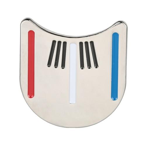 アウトドア合金ゴルフアライメントツールボールマーカー磁気ハットクリップゴルフアクセサリーを目指して
