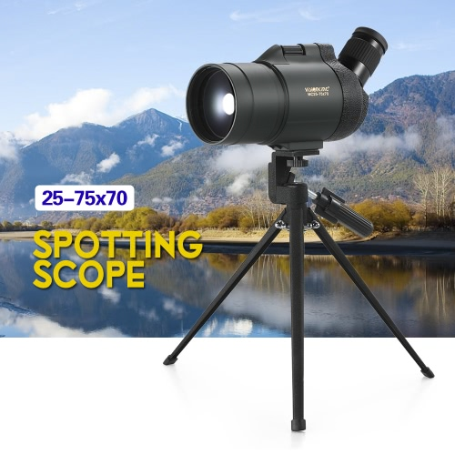 Visionking 25-75x70 Waterproof Fogproof Angled Spotting Scope Bak4 Prism Monocular Telescope with Tripod Carry Case for Bird WatchSports &amp; Outdoor<br>Visionking 25-75x70 Waterproof Fogproof Angled Spotting Scope Bak4 Prism Monocular Telescope with Tripod Carry Case for Bird Watch<br>