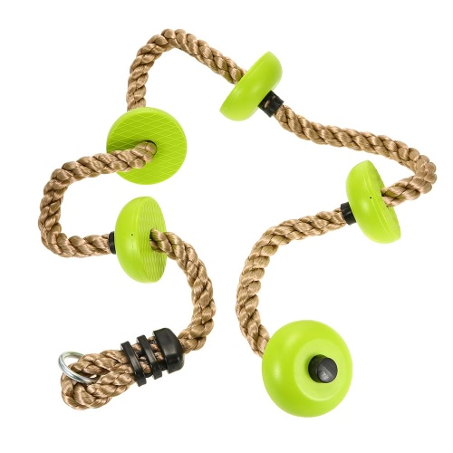 2M Climbing Rope Set with Platforms Garden Playground Games Accessories for KidsSports &amp; Outdoor<br>2M Climbing Rope Set with Platforms Garden Playground Games Accessories for Kids<br>
