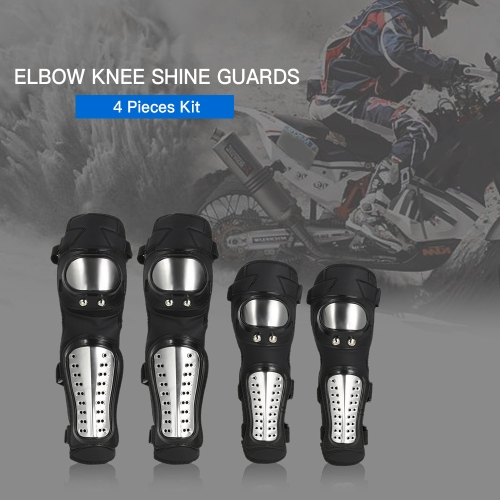 Elbow Knee Shin Guard Pads 4Pcs Kit Breathable Adjustable Knee Cap Pads Protector Elbow Armor for Motorcycle Motocross RacingSports &amp; Outdoor<br>Elbow Knee Shin Guard Pads 4Pcs Kit Breathable Adjustable Knee Cap Pads Protector Elbow Armor for Motorcycle Motocross Racing<br>