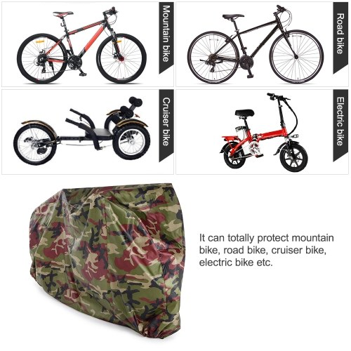 190T Polyester Fabrics Bicycle Cover Foldable Durable Bike Cover for Bikes with a Storage Bag